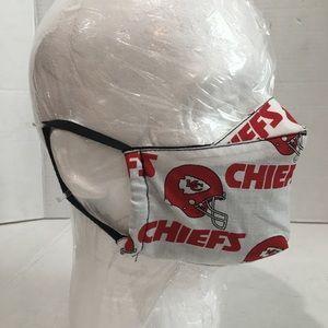 Kansas City chiefs cotton facemask.